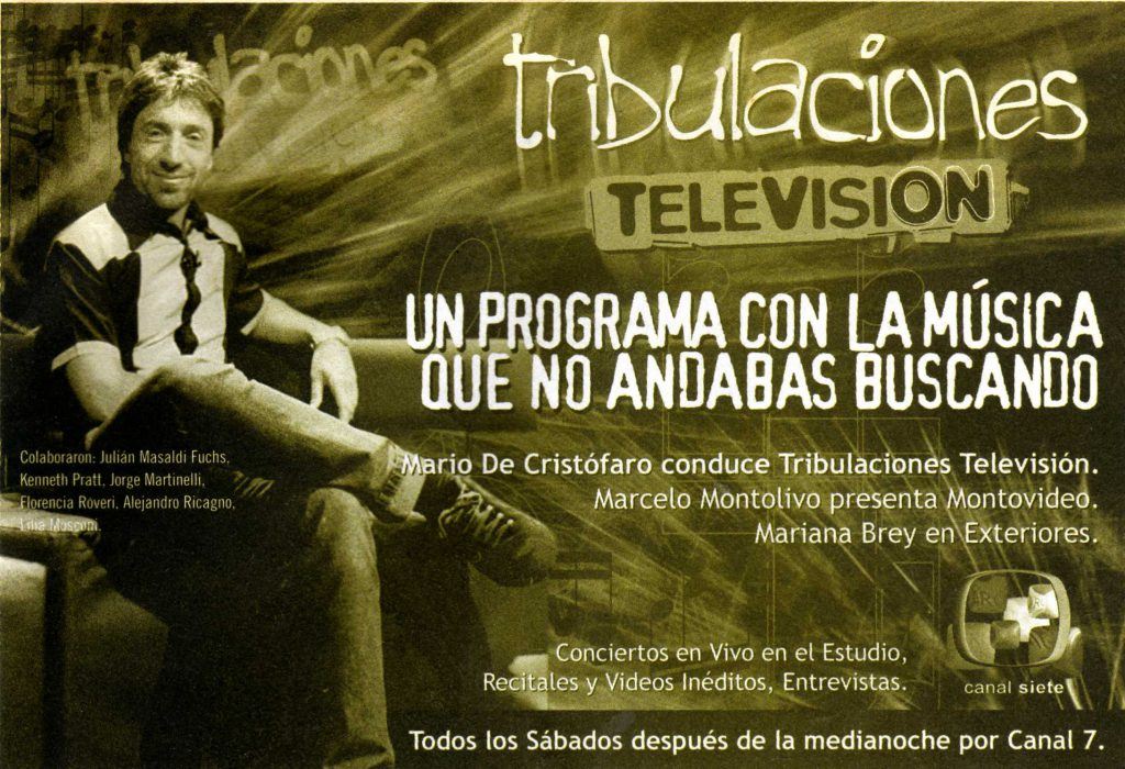 Aviso Tribulaciones TV - Hecho en Bs As - Nov. 2003
